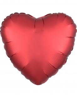 Aluminiumballon Folienballon Herz rot 43cm