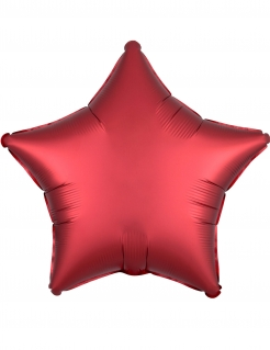Stern-Ballon Folienballon Weihnachtsdeko 43 cm rot