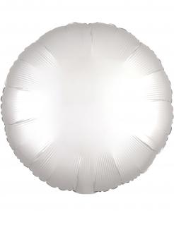 Runder Aluminiumballon weiss 43cm