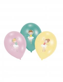 Latexballons Tänzerinnen Raumdeko 6 Stück bunt 27,5cm
