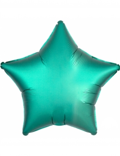 Aluminiumballon Folienballon Stern türkis 43cm