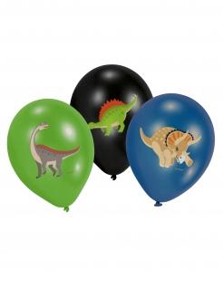 Dinosaurier-Luftballons Partydeko 6 Stück bunt 27,5cm