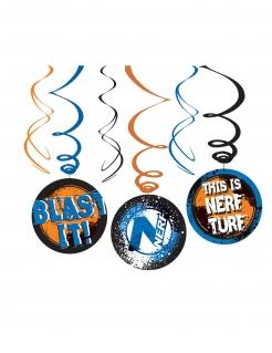 Nerf™-Hängedeko 3 Stück blau-orange 24cm