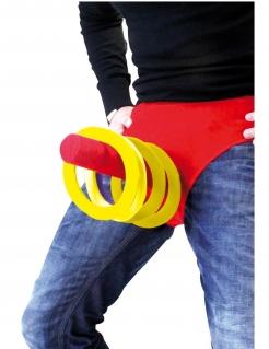 Lustiges Ringwurfspiel für den JGA rot-gelb