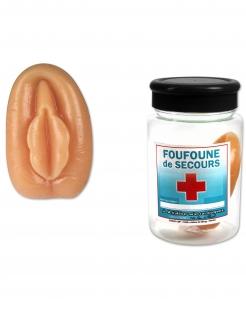 Lustige Notfall-Vagina JGA-Scherzartikel beigefarben