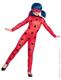 Ladybug™-Mädchenkostüm Miraculous™-Lizenzkostüm Fasching rot-schwarz