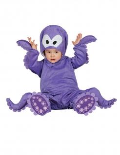 Tintenfisch-Kostüm für Babys mit Kapuze violett