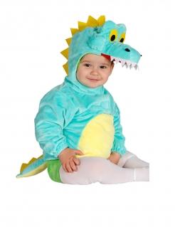 Drachen-Kostüm für Babys hellblau-gelb