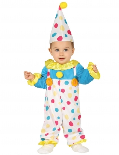 Babykostüm Clown bunt