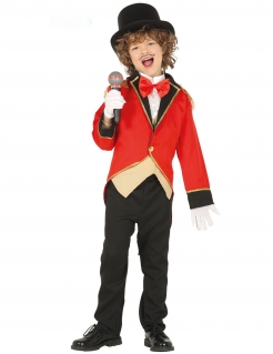 Zirkusdirektor-Kostüm für Kinder Karnevalskostüm schwarz-rot