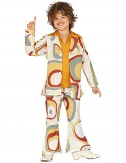 Disco-Kostüm für Jungen 70er-Kostüm bunt