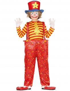 Clown-Kostüm für Jungen Faschingskostüm rot-gelb