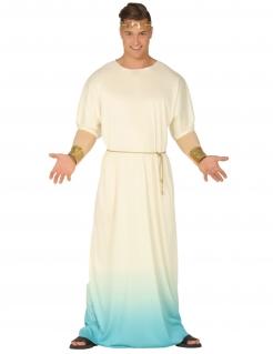 Griechen-Kostüm für Herren Antikekostüm weiss-blau