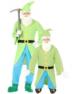 Zwergen-Kostüm für Männer Faschingskostüm grün-schwarz