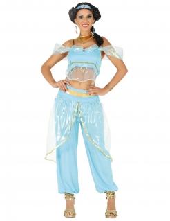 Orientalische Prinzessin Damenkostüm Faschingskostüm türkis