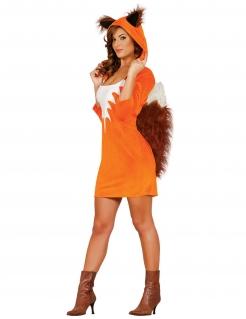 Sexy Fuchs-Kostüm für Damen Tierkostüm orange-braun