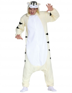 Weißer Tiger Faschingskostüm Tierkostüm weiss-schwarz