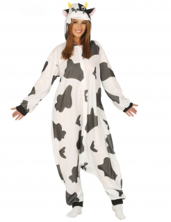 Kuh-Kostüm Tier-Kostüm weiss-schwarz