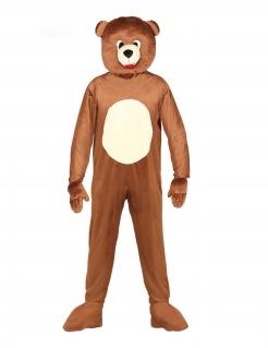 Teddybär-Kostüm Faschingskostüm braun