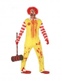 Untoter Killerclown Horror-Kostüm Zombieclown gelb-rot