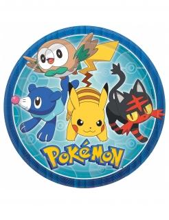 Pokémon™-Teller Partydeko 8 Stück bunt 23cm
