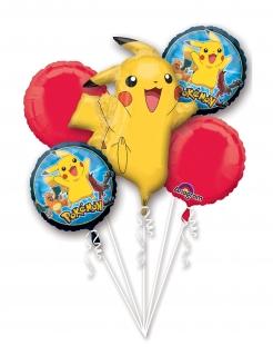 Pokémon-Luftballons Aluminium-Ballons Deko 5 Stück bunt