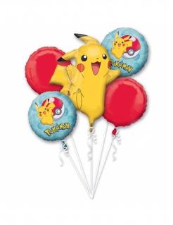 Pokémon-Luftballons Partydeko 5 Stück bunt