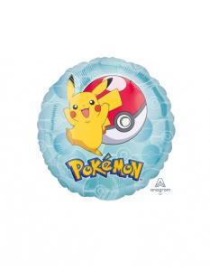 Pokémon-Luftballon Pikachu rund Partydeko bunt 23cm