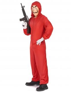 Bankräuber Halloween-Kostümset für Erwachsene rot-hautfarben-schwarz