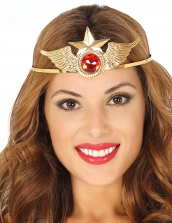 Super-Heldin Krone für Damen gold-rot