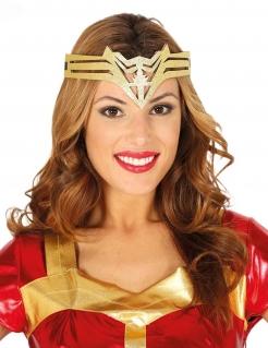 Tiara für Damen Superheldin Accessoire gold