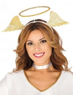 Heiligenschein-Haarreif Engel-Kostüm-Accessoire für Erwachsene gold