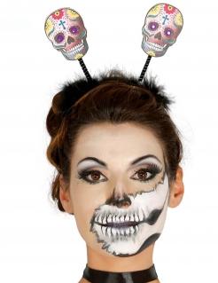 Totenkopf-Haarreif Halloweenkostüm Accessoire bunt