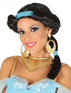 Orientalische Perücke Bauchtänzerin-Perücke für Damen schwarz