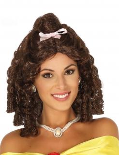 Prinzessin-Perücke mit Schleife für Damen braun