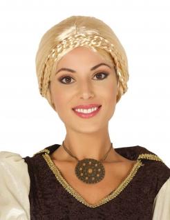 Wikinger-Perücke für Damen Karneval-Perücke blond