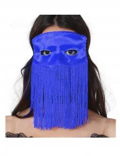 Augenmaske mit Fransen für Erwachsene blau