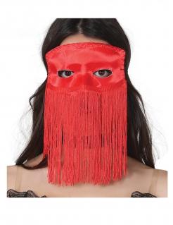 Augenmaske mit Fransen für Erwachsene rot