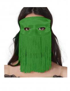 Augenmaske mit Fransen für Erwachsene grün