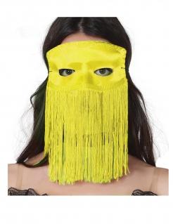 Augenmaske mit Fransen für Erwachsene gelb