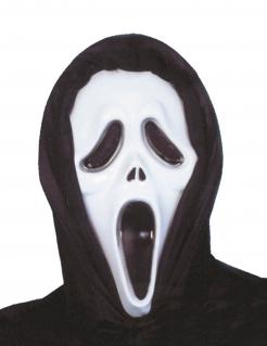 Geistermaske Serienmörder-Maske weiss-schwarz