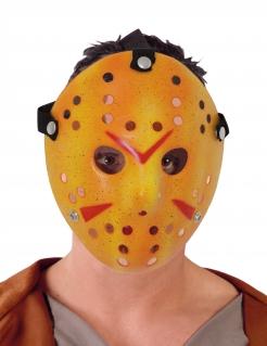 Hockey-Maske Killer-Maske für Halloween weiss-rot