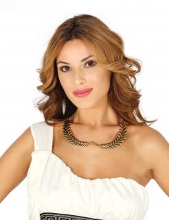 Antike Halskette Lorbeerkranz gold