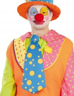 XXL Clowns-Krawatte blau-gelb