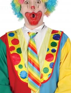 Witzige Clown-Krawatte Kostümzubehör bunt