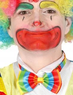 Witzige Clown-Fliege Kostümzubehör bunt