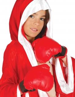 Kinder-Boxhandschuhe Kostümzubehör rot