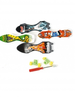 Mini-Skateboard Spielzeug für eine Pinata bunt 9cm