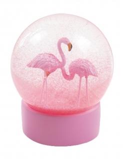 Schneekugel Flamingo rosa 13cm