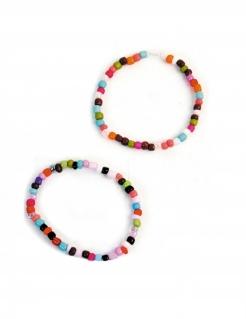 Perlenarmbänder für Kinder Pinata Zubehör 2 Stück bunt